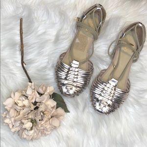 Seychelles rose gold lace up gladiator sandals